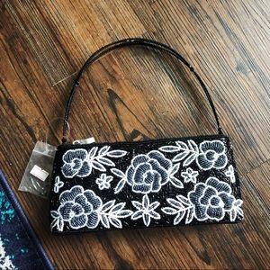Vintage Floral Beaded Handbag